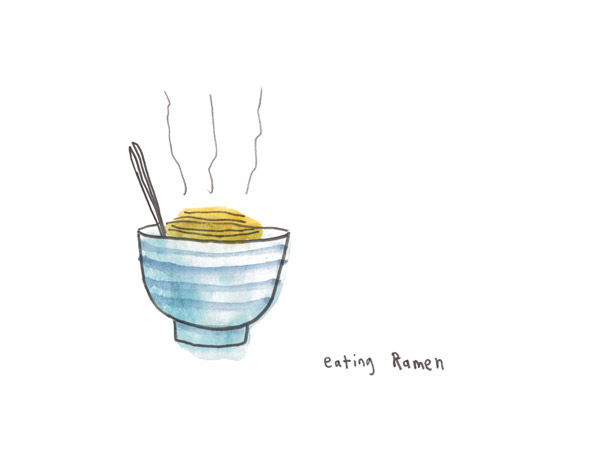 Eating Ramen by John Atkins